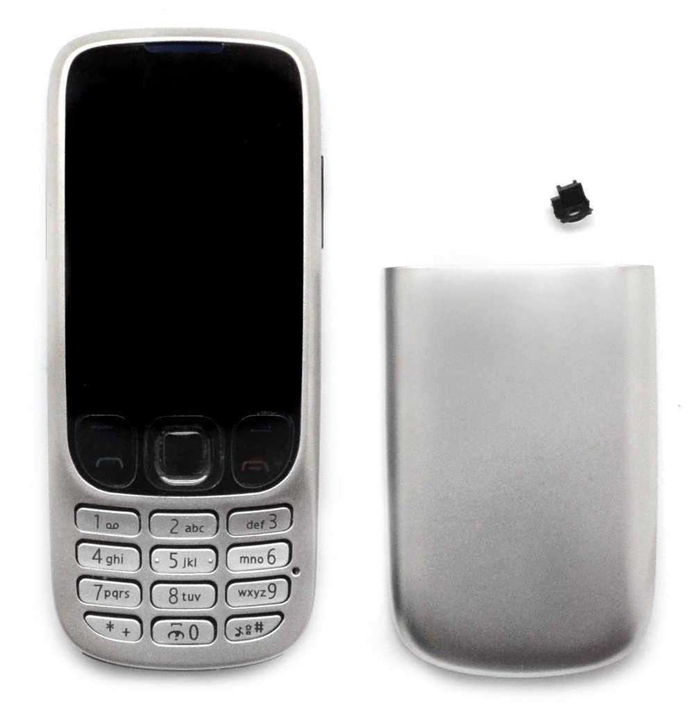 Πρόσοψη Nokia 6303 Classic χωρίς πληκτρολόγιο Ασημί OEM