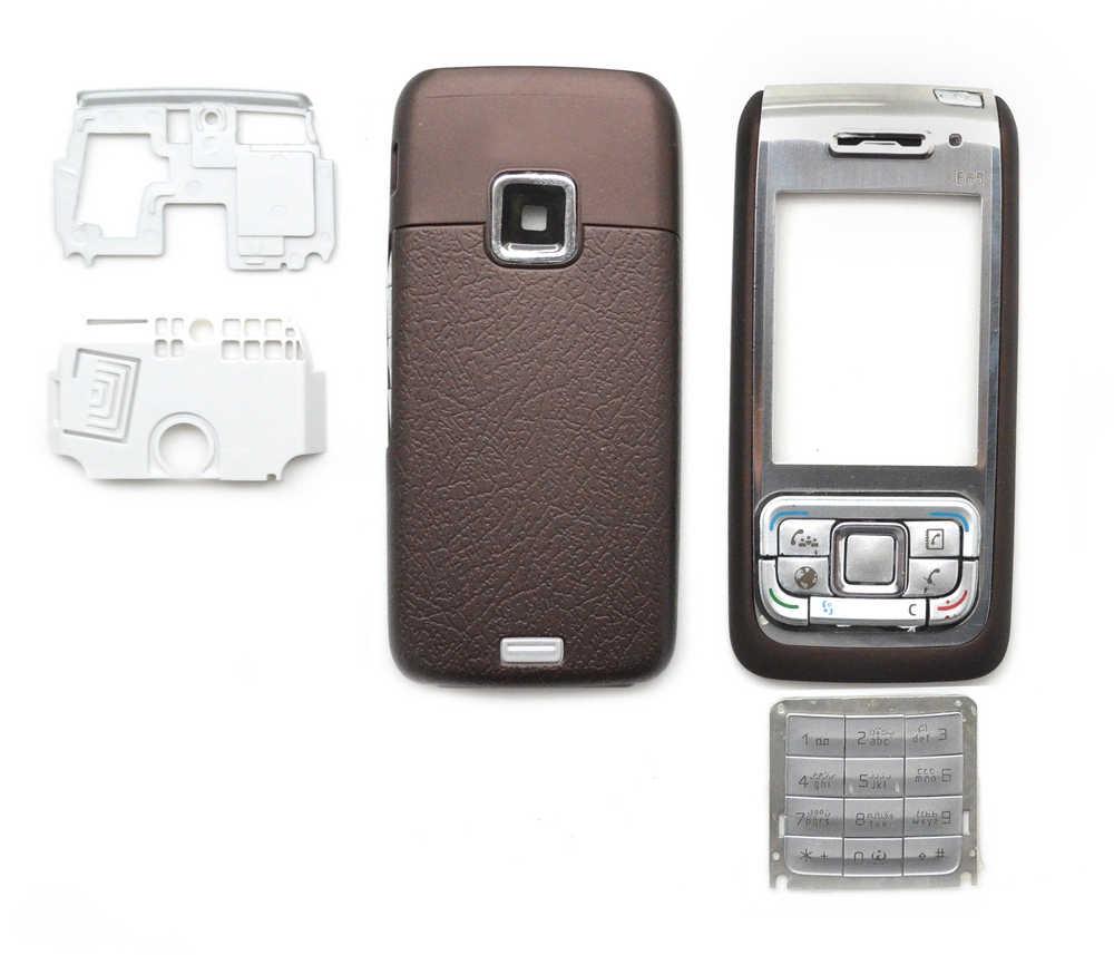 Πρόσοψη Nokia E65 με πληκτρολόγιο Καφέ OEM
