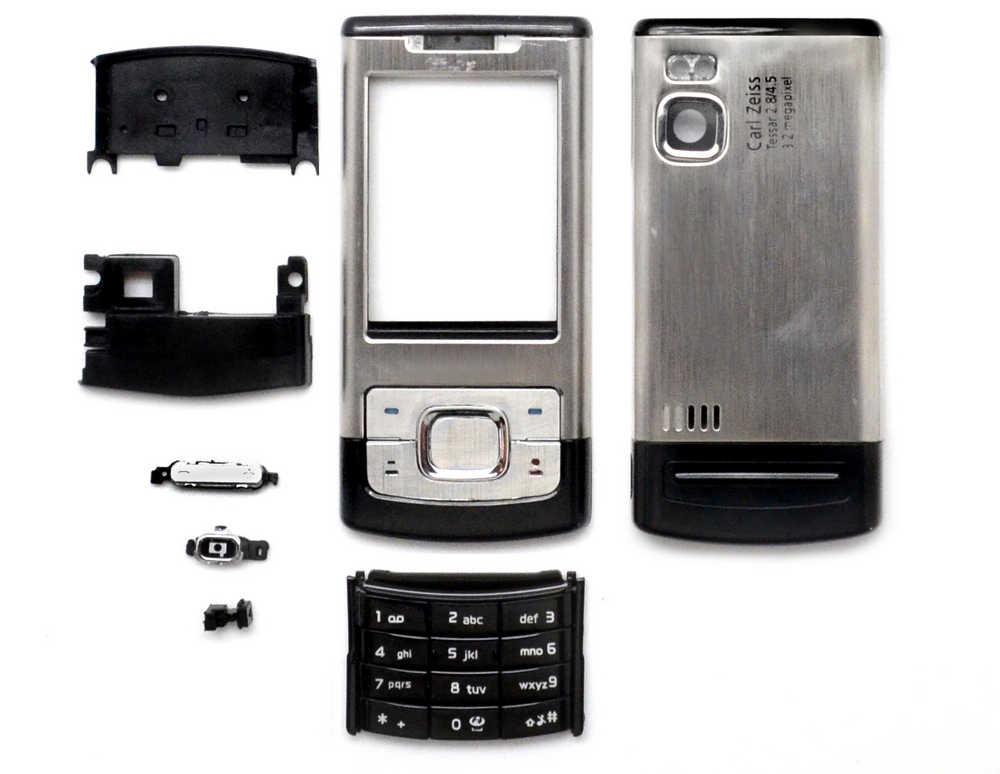 Πρόσοψη Nokia 6500 Slide με πληκτρολόγιο Ασημί OEM