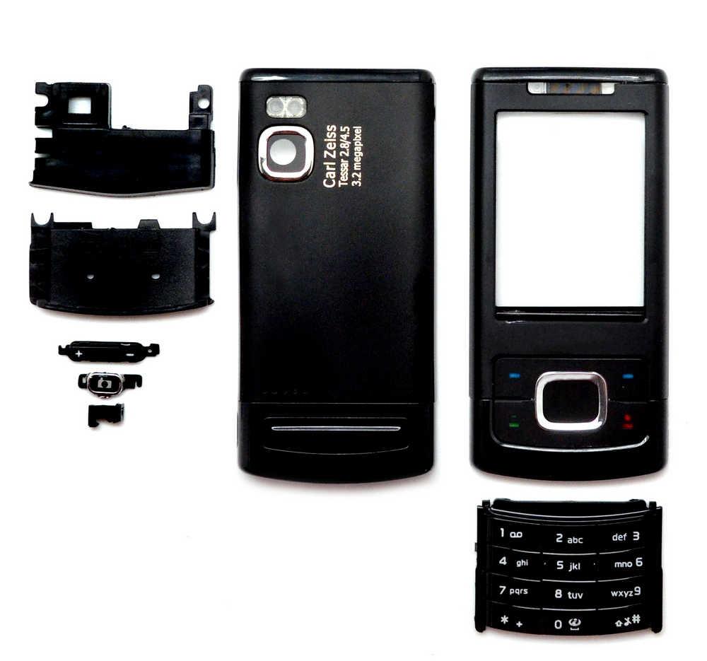 Πρόσοψη Nokia 6500 Slide με πληκτρολόγιο Μαύρη OEM