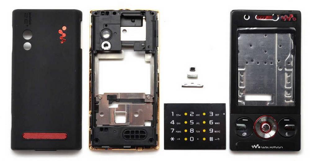 Πρόσοψη S.Ericsson W705 με πληκτρολόγιο Μαύρη OEM