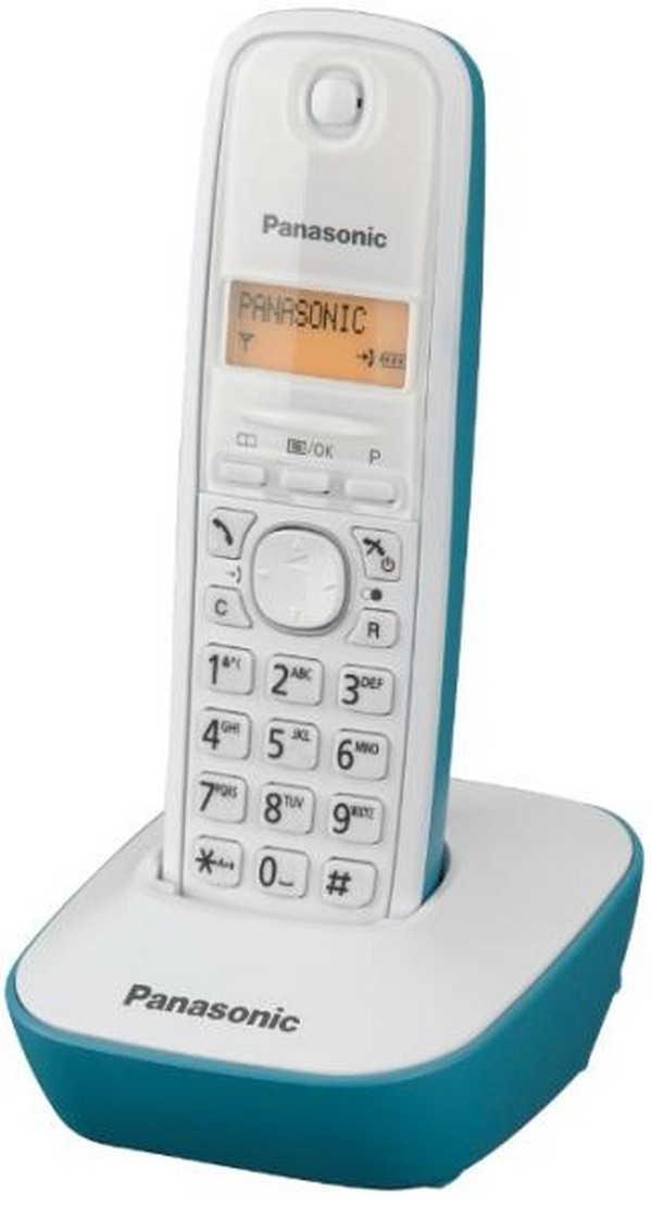 Ασύρματο Ψηφιακό Τηλέφωνο Panasonic KX-TG1611GRC Λευκό-Τυρκουάζ