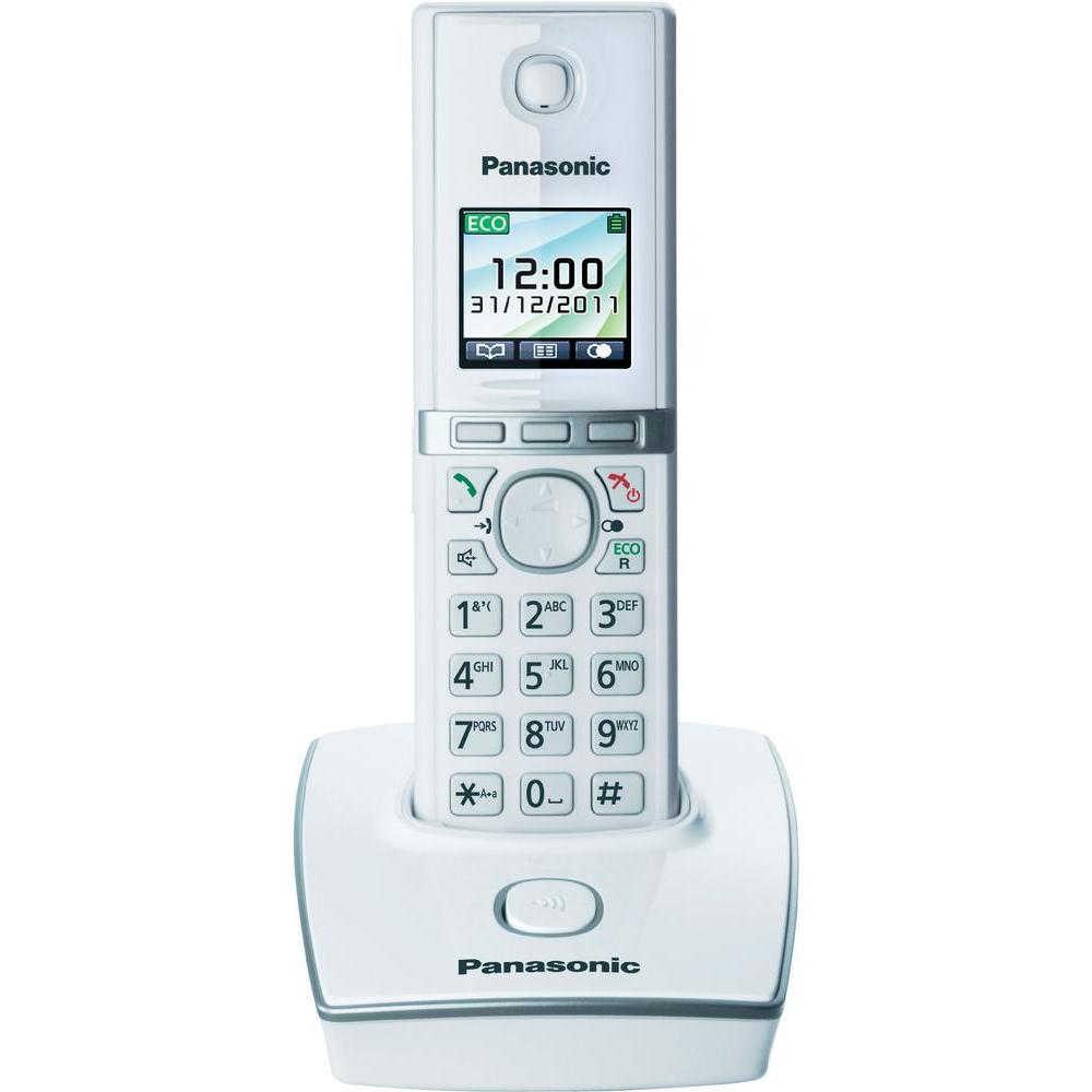 Ασύρματο Ψηφιακό Τηλέφωνο Panasonic KX-TG8051 (EU) Λευκό με Υποδοχή Hands Free