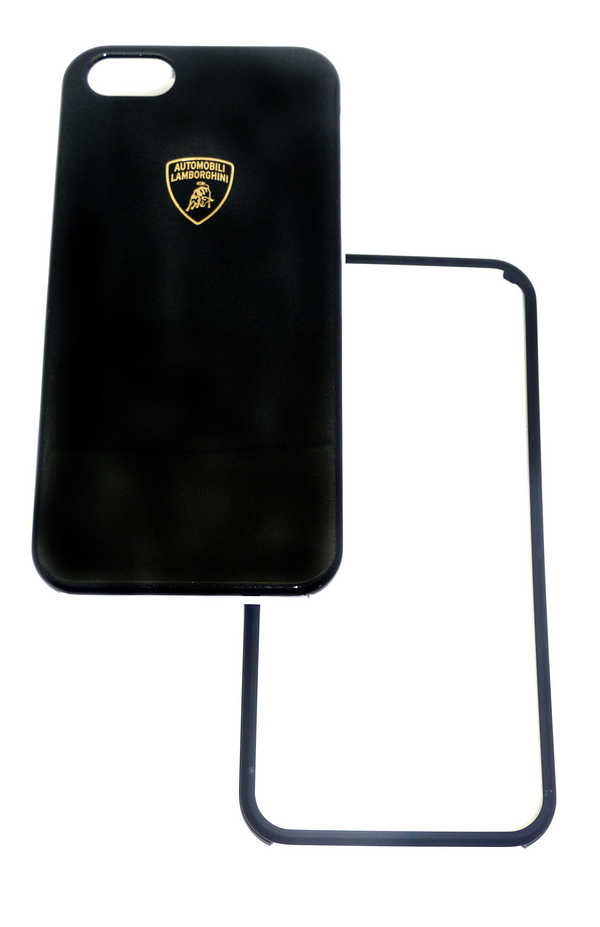 Θήκη Faceplate Lamborghini για Apple iPhone SE/5/5S Slim Μαύρη με αποσπώμενο μαύρο και λευκό μπροστινό μέρος Diablo-D1