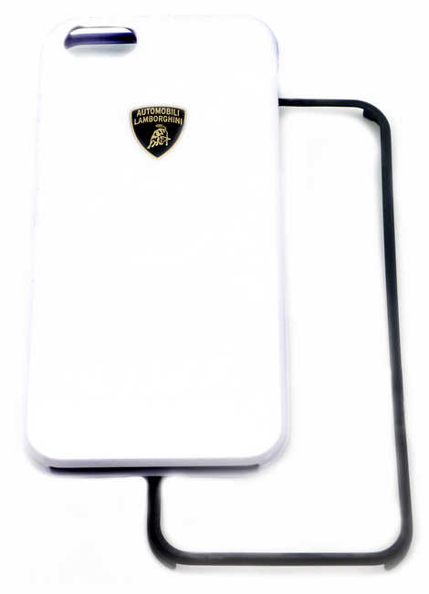 Θήκη Faceplate Lamborghini για Apple iPhone SE/5/5S Slim Λευκή με αποσπώμενο μαύρο και λευκό μπροστινό μέρος Diablo-D1