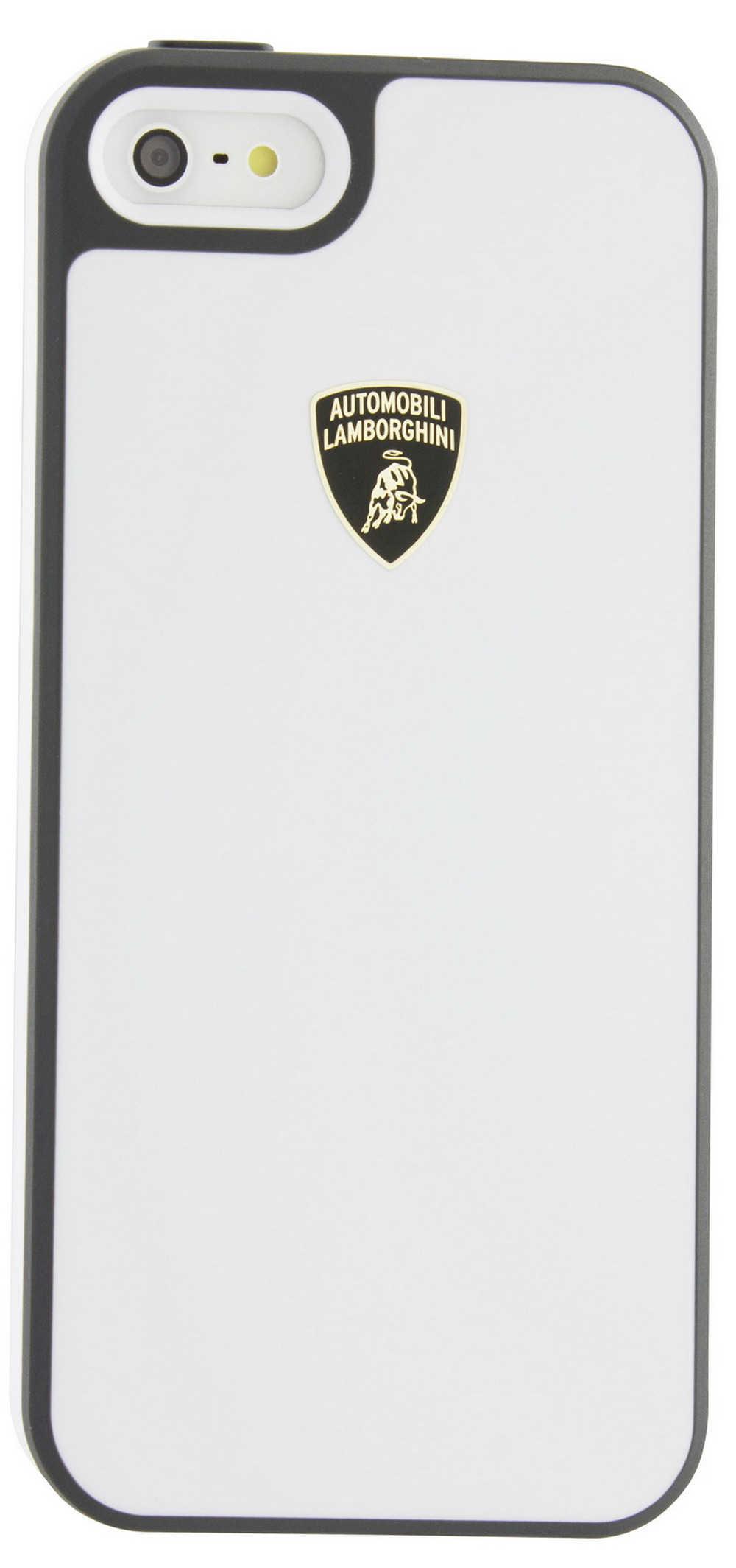 Θήκη TPU & PC Back Cover Lamborghini για Apple iPhone SE/5/5S Λευκή-Γκρί Diablo-D1