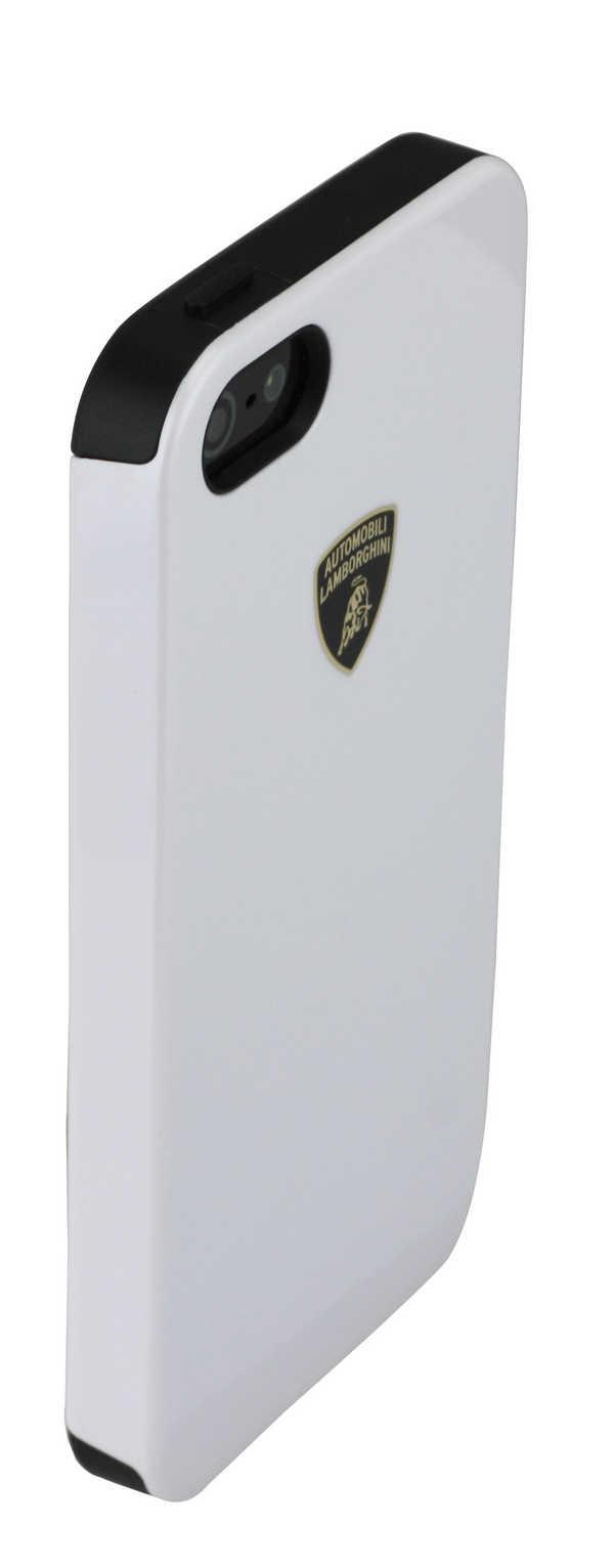 Θήκη TPU & PC Back Cover Lamborghini για Apple iPhone SE/5/5S Λευκή Diablo-D1