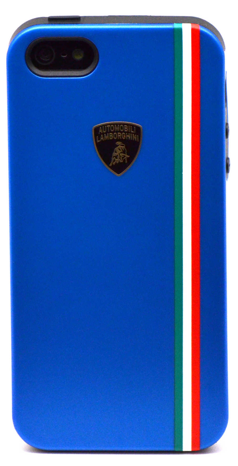 Θήκη TPU & PC Back Cover Lamborghini για Apple iPhone SE/5/5S Μπλέ Tricolor-D1