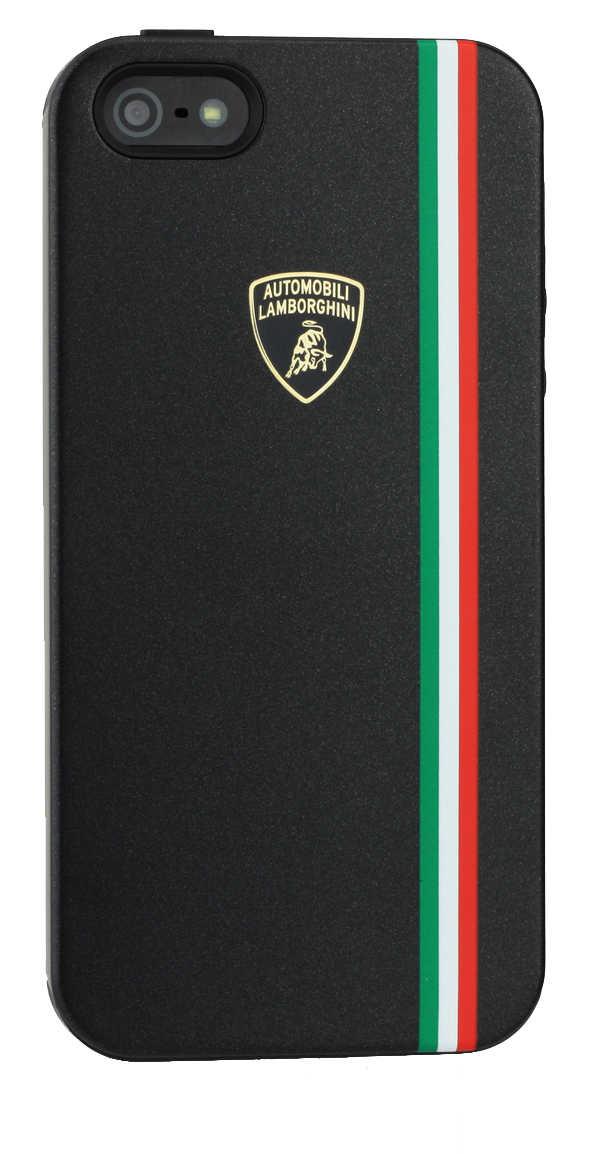 Θήκη TPU & PC Back Cover Lamborghini για Apple iPhone SE/5/5S Μαύρη Tricolor-D1