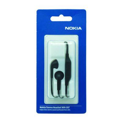 Hands Free Stereo Nokia WH-207 για E6-00/700 3,5 mm Μαύρο Original