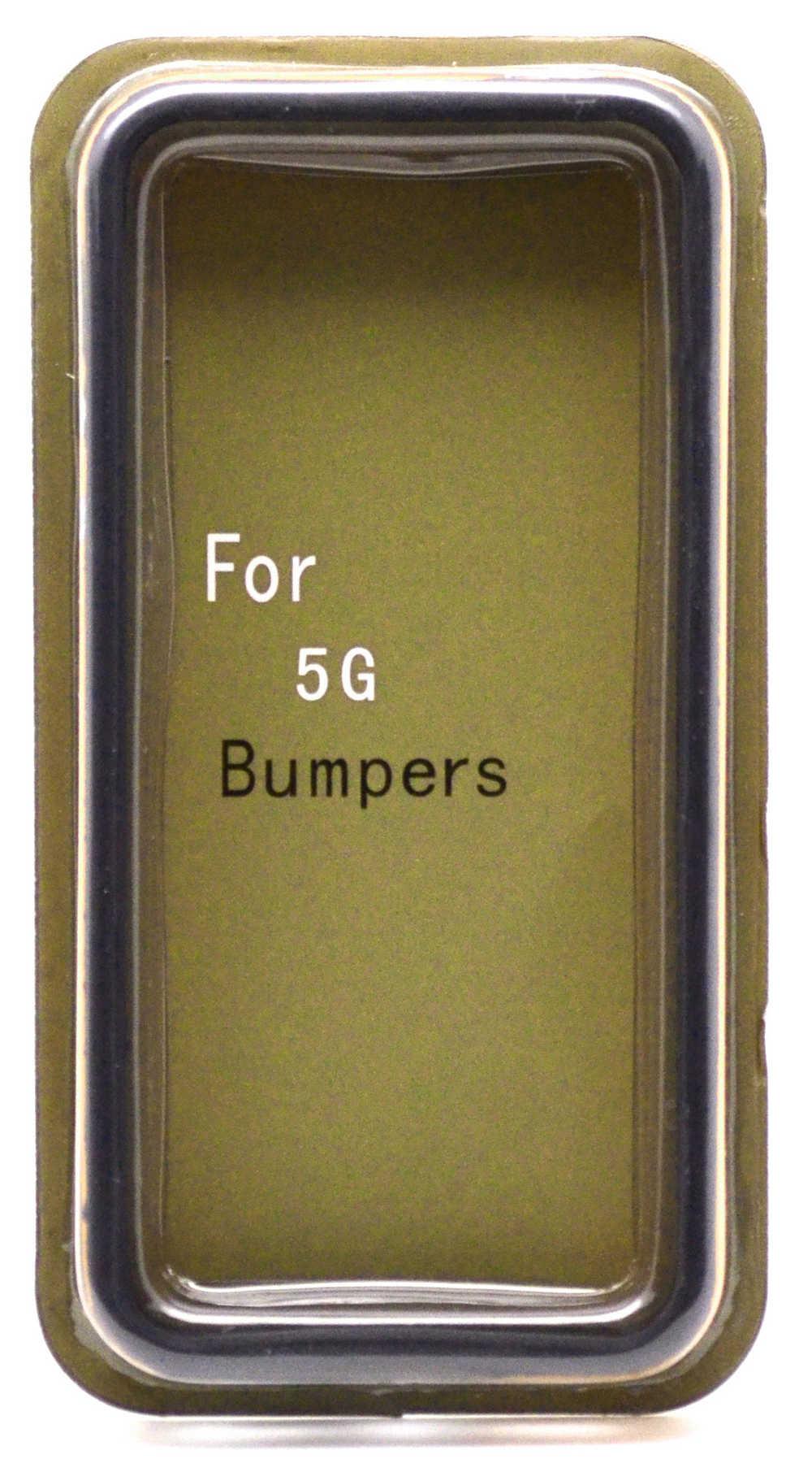Θήκη Bumper Ancus για Apple iPhone SE/5/5S Μαύρη - Πορτοκαλί