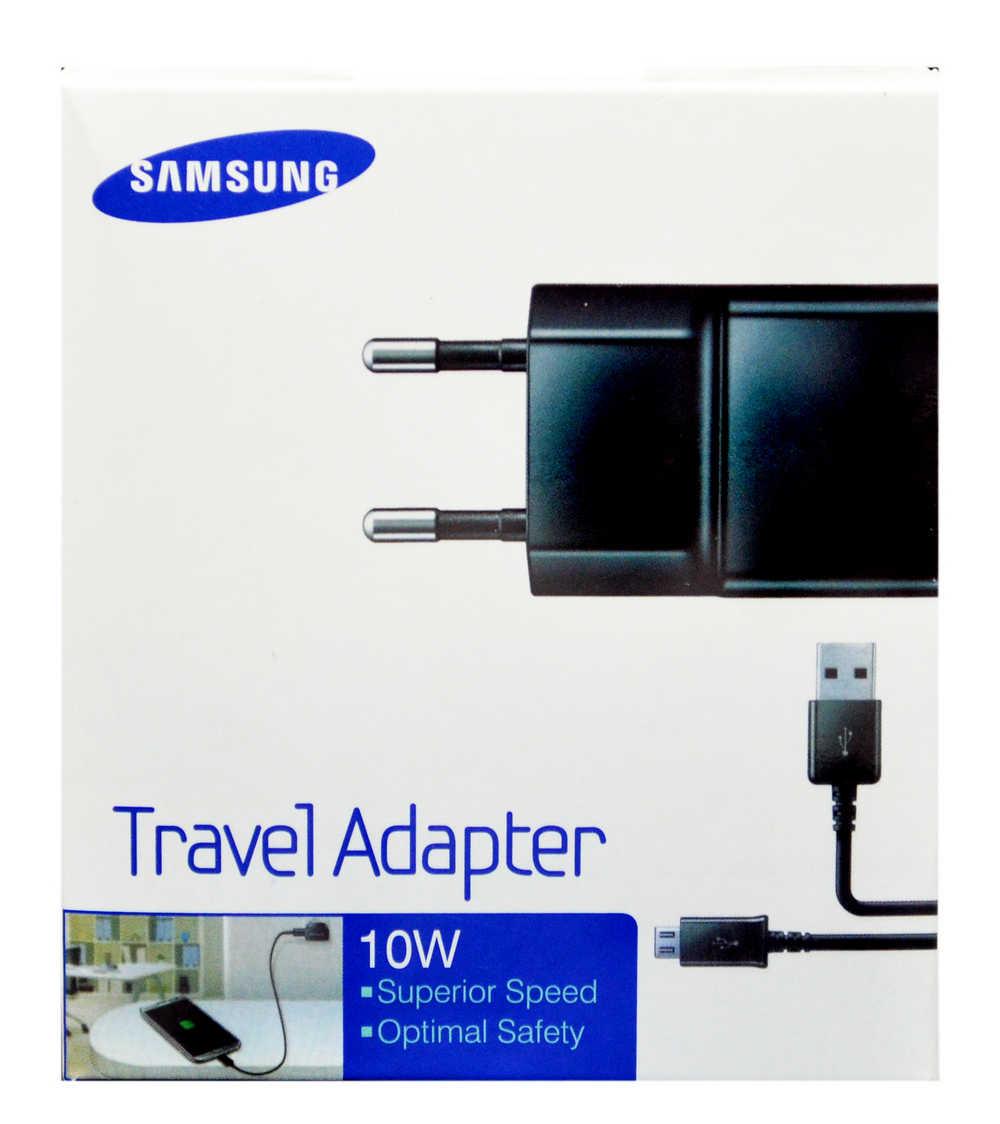 Φορτιστής Ταξιδίου Samsung ETA-U90EBE 10W Μαύρος με Αποσπώμενο Καλώδιο Micro USB για i9070 Galaxy S Advance 2000 mAh