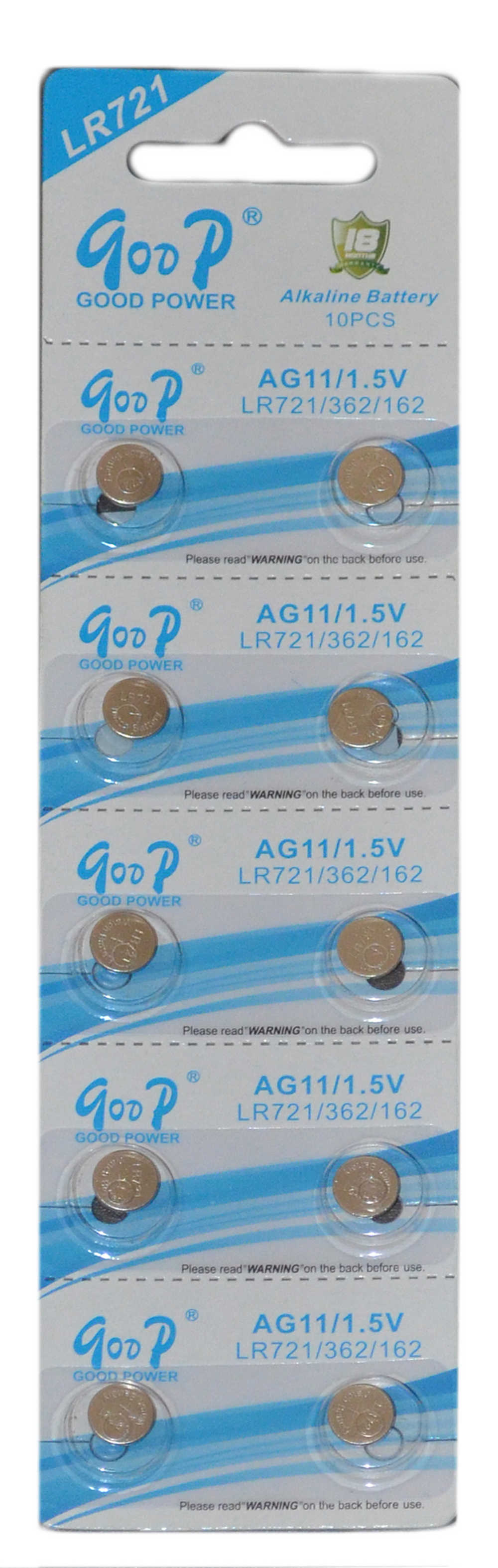 Buttoncell Goop LR721 AG11 Τεμ. 10