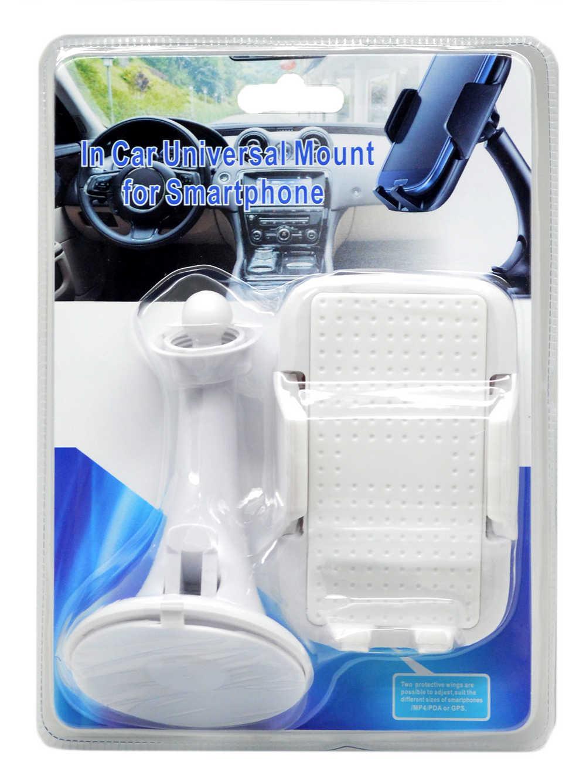 Βάση Στήριξης Αυτοκινήτου Ancus Universal Λευκή για Smartphone 4'' έως 5.7'' Ίντσες