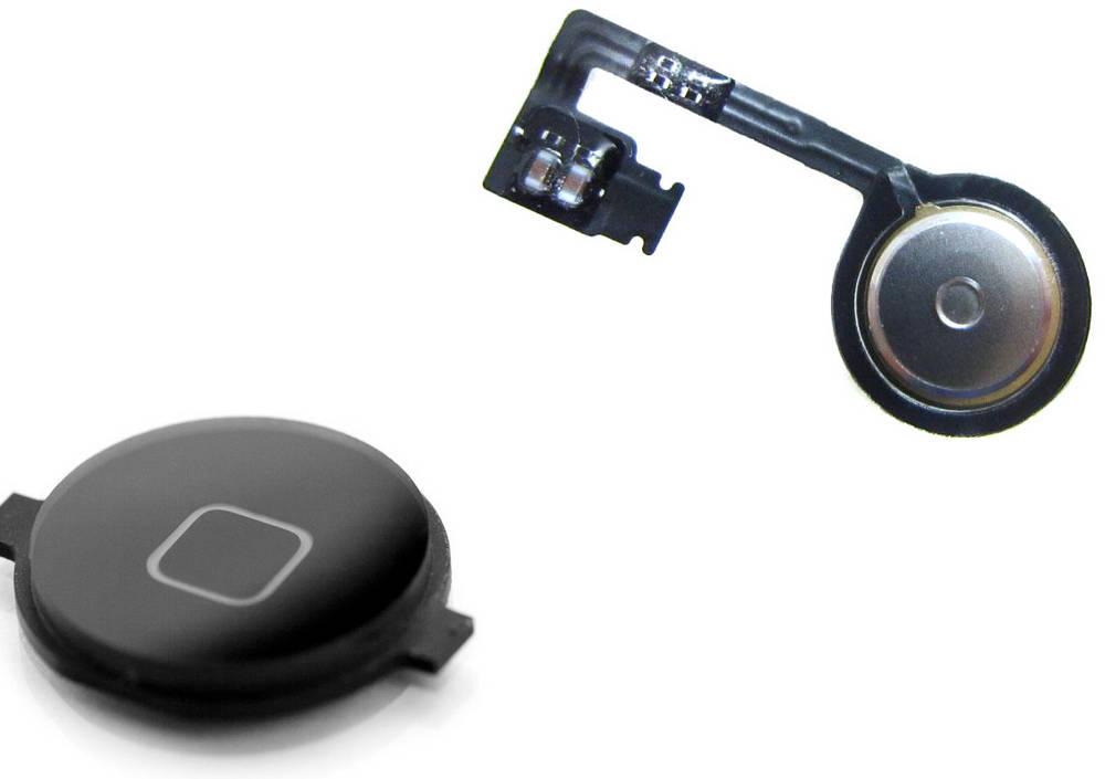 Σέτ Κεντρικού Πλήκτρου Apple iPhone 4S Μαύρο  OEM Type A