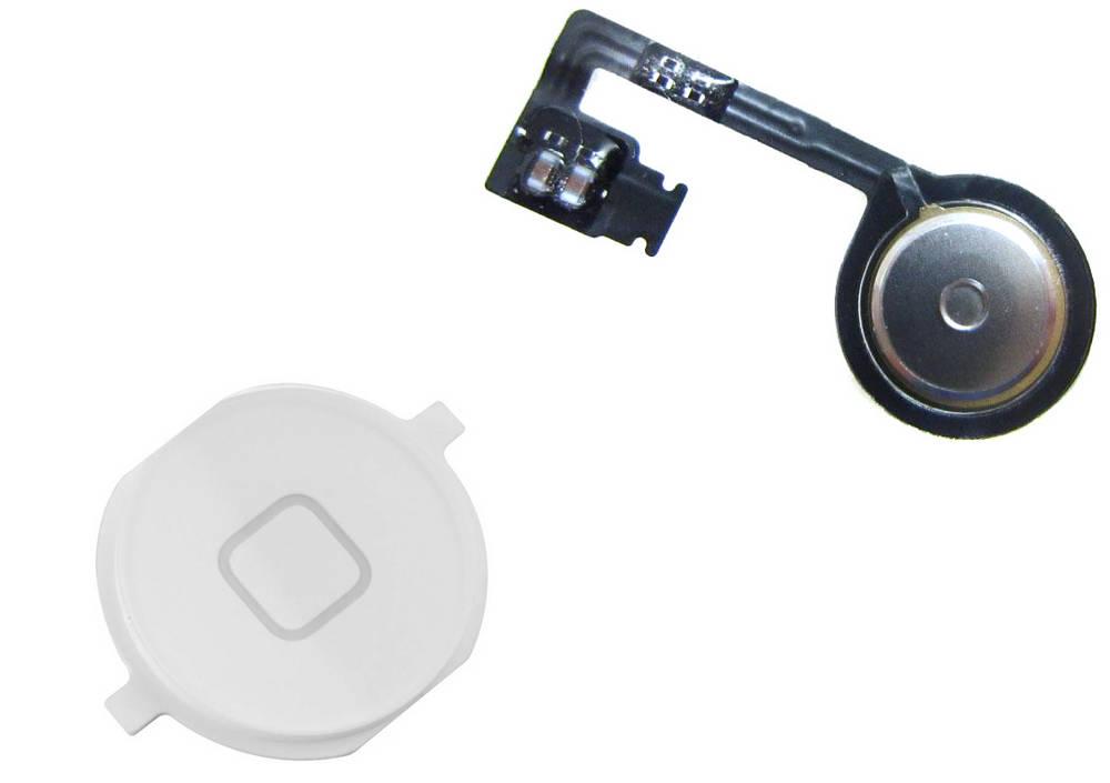 Σέτ Κεντρικού Πλήκτρου Apple iPhone 4S Λευκό OEM Type A