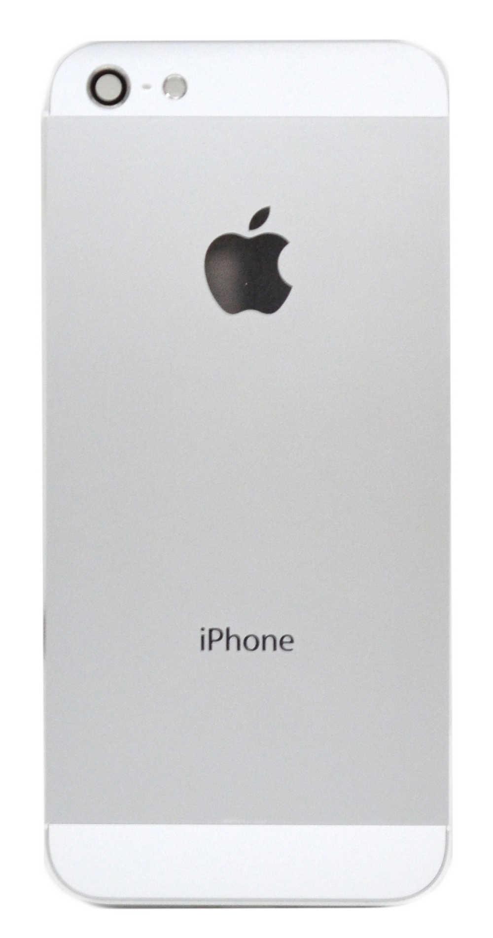 Καπάκι Μπαταρίας Apple iPhone 5 Λευκό με Τζαμάκι Κάμερας, Θύρα SIM και Εξωτερικά Πλήκτρα OEM Type A
