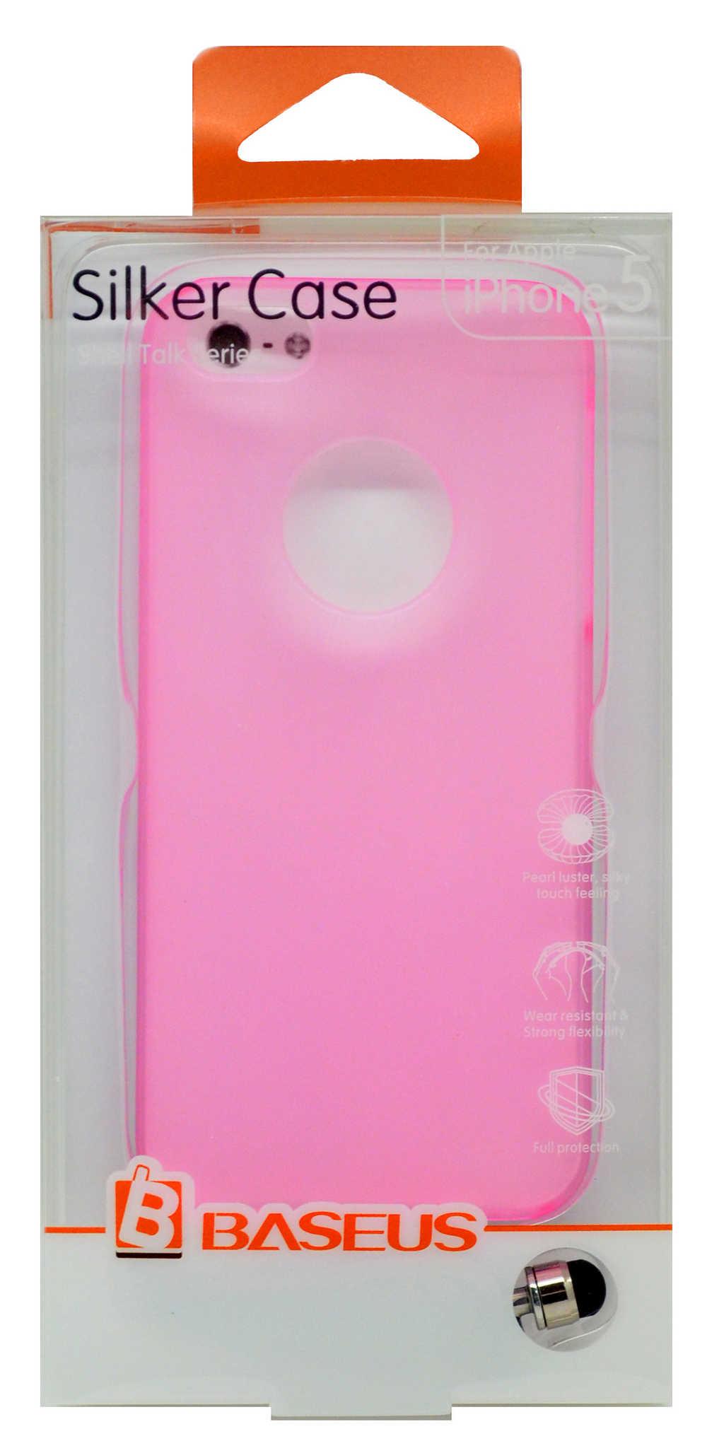 Θήκη Faceplate Baseus για Apple iPhone SE/5/5S Ροζ + 1x Screen Protector Baseus Ultra Clear Anti-Fingerprint