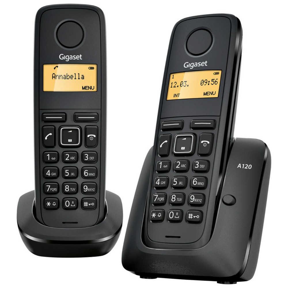 Ασύρματο Ψηφιακό Τηλέφωνο Gigaset A120 Duo Μαύρο