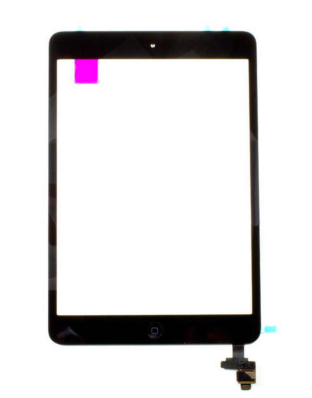 Μηχανισμός Αφής Apple iPad Mini με IC, Home Button και Κόλλα Μαύρο OEM Type A