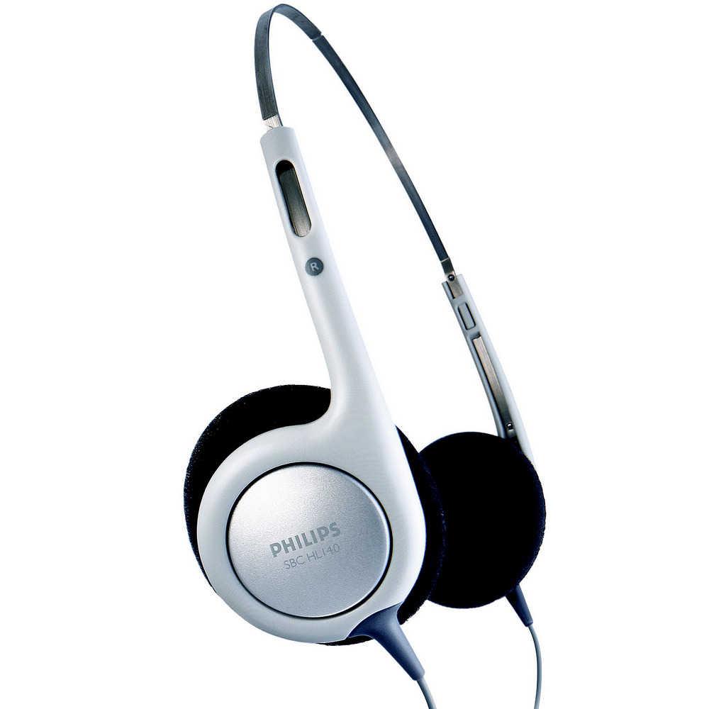 Ακουστικά Stereo Philips SBCHL140 3.5 mm Λευκό - Μαύρο για mp3, mp4 και Συσκευές Ήχου