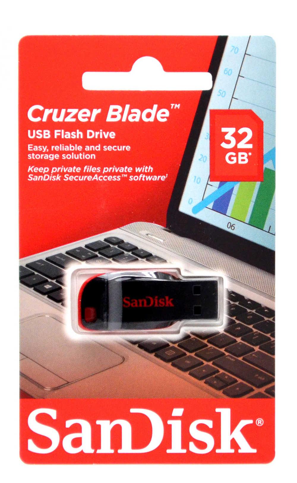 USB 2.0 Sandisk Cruzer Blade 32GB SDCZ50-032G-B35