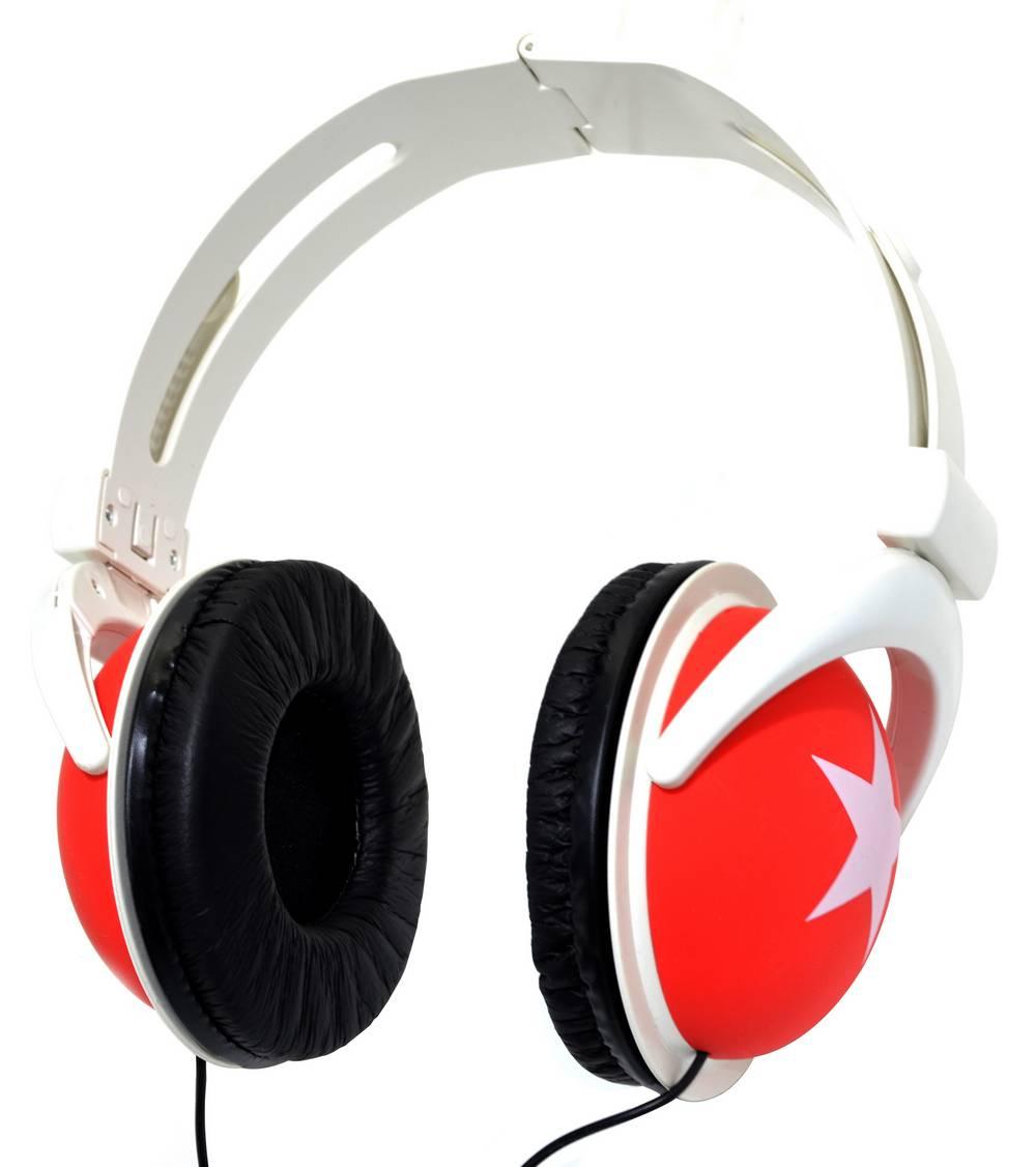 Ακουστικά Stereo Star Foldable 3.5 mm Κόκκινο για mp3, mp4 και Συσκευές Ήχου