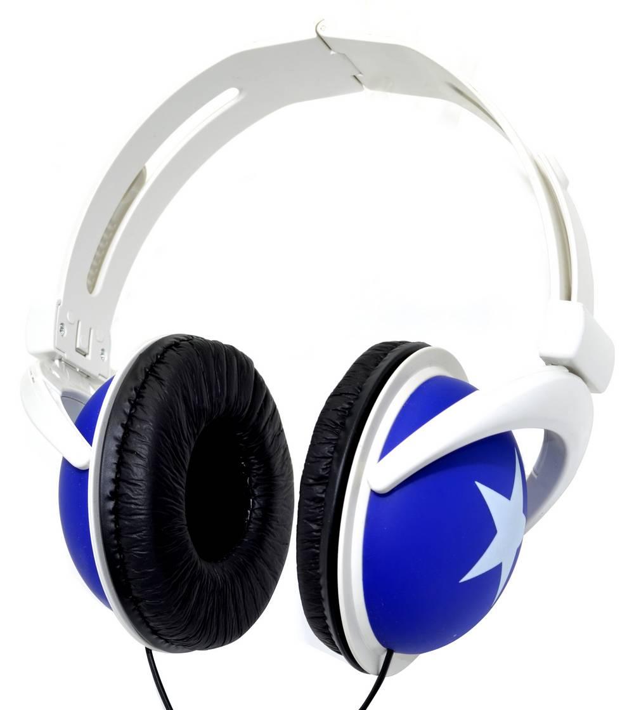 Ακουστικά Stereo Star Foldable 3.5 mm Μπλέ για mp3, mp4 και Συσκευές Ήχου