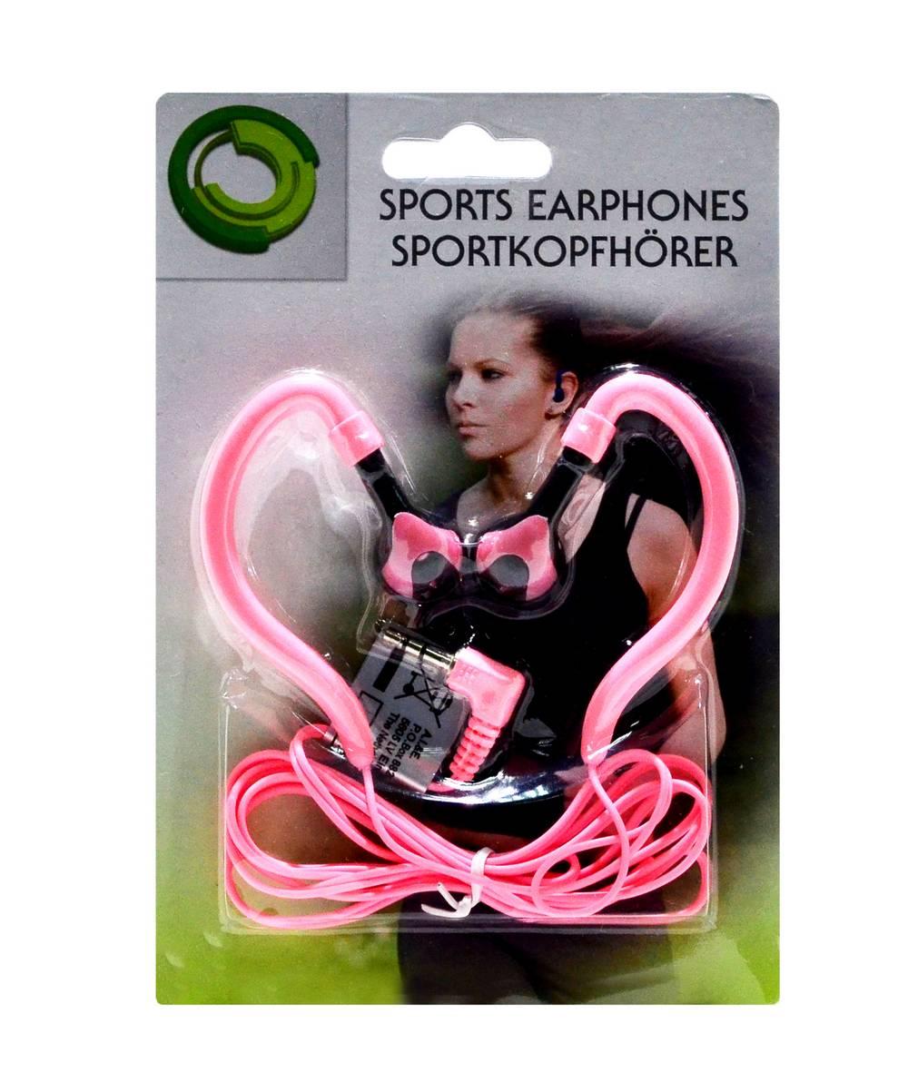 Ακουστικά Sport Ancus 3.5 mm Ρόζ για mp3, mp4 και Συσκευές Ήχου