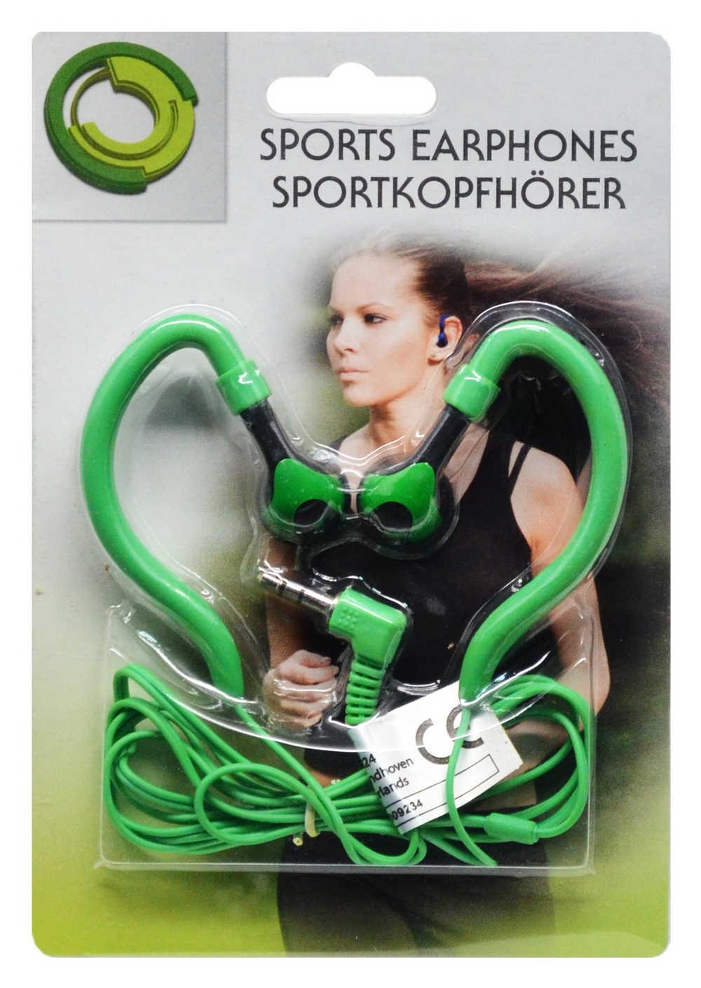 Ακουστικά Sport Ancus 3.5 mm Πράσινο για mp3, mp4 και Συσκευές Ήχου