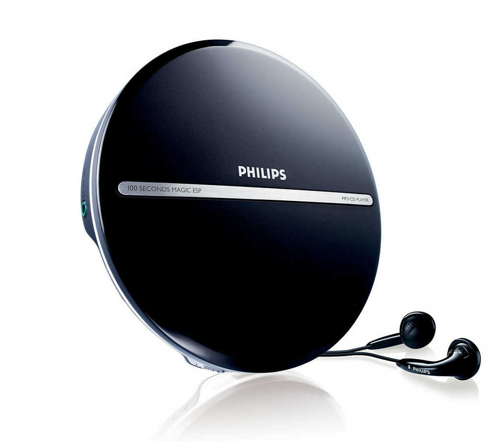 Φορητό MP3-CD Player Philips EXP2546/12 Μαύρο με Ακουστικά
