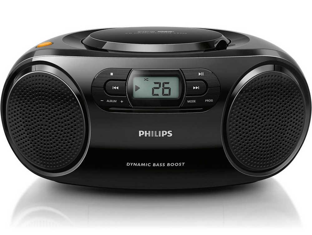 Φορητό Ράδιο MP3-CD Philips AZ320/12 Μαύρο με Θύρα USB