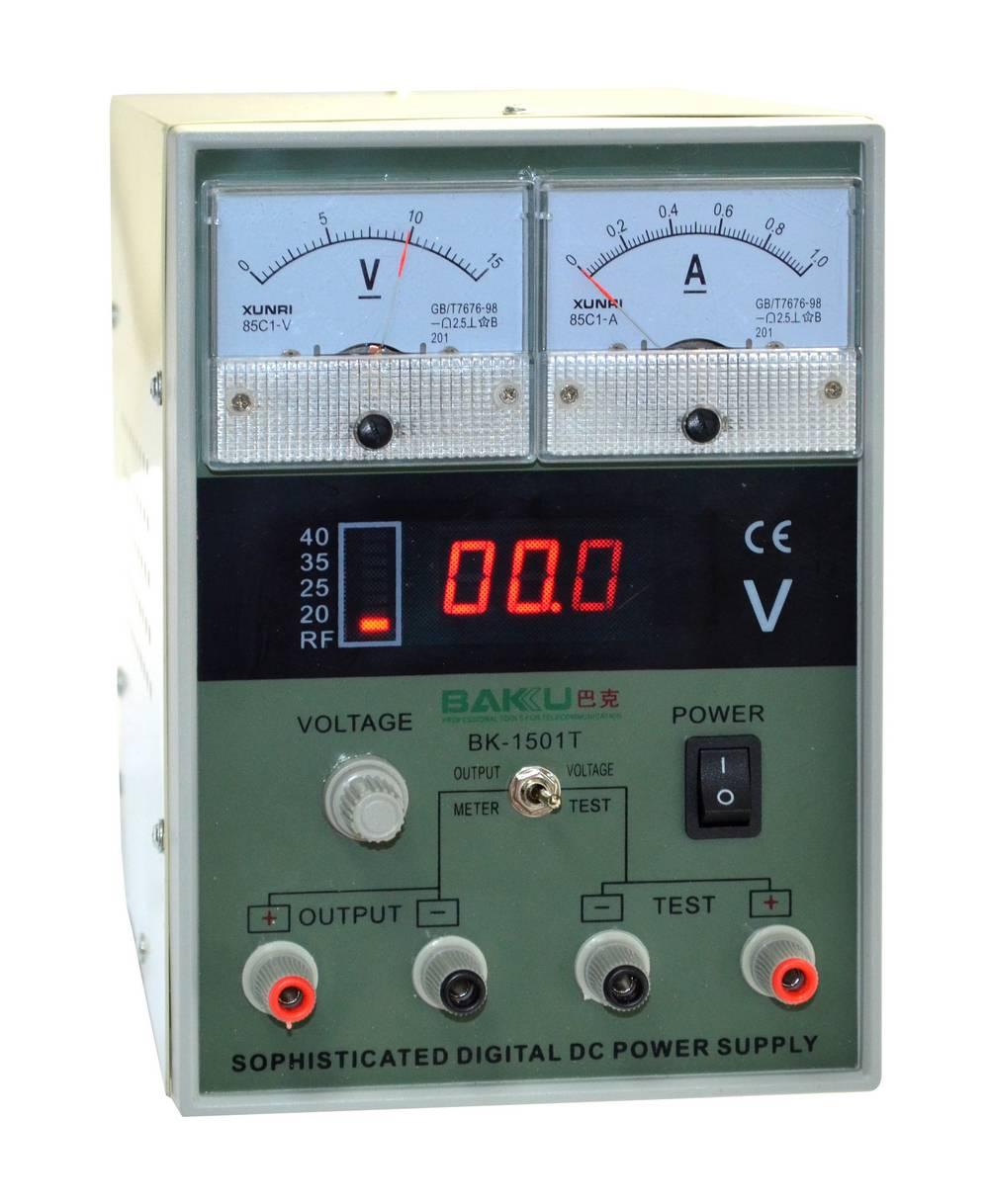 Τροφοδοτικό Ρεύματος Bakku BK-1501T 101-200W / 50Hz / 0-15 V / 1A