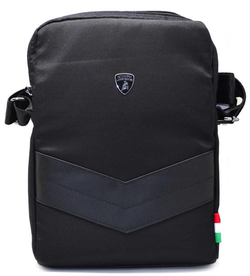 """Τσαντάκι Ώμου Lamborghini για Apple iPad 3/4 και Tablet έως 9.7"""" Μαύρο (16.5 cm x 25 cm)"""