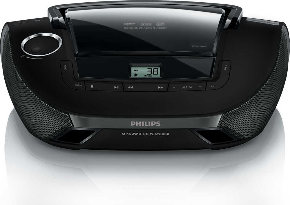 Φορητό Ράδιο MP3-CD Philips Lifestyle AZ1837/12 Μαύρο με Θύρα USB