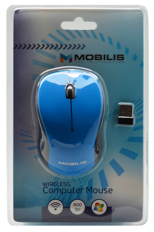 Ασύρματο Ποντίκι Mobilis Tiny 3 Πλήκτρων 800 DPI Μαύρο - Μπλέ (91*56*30mm)