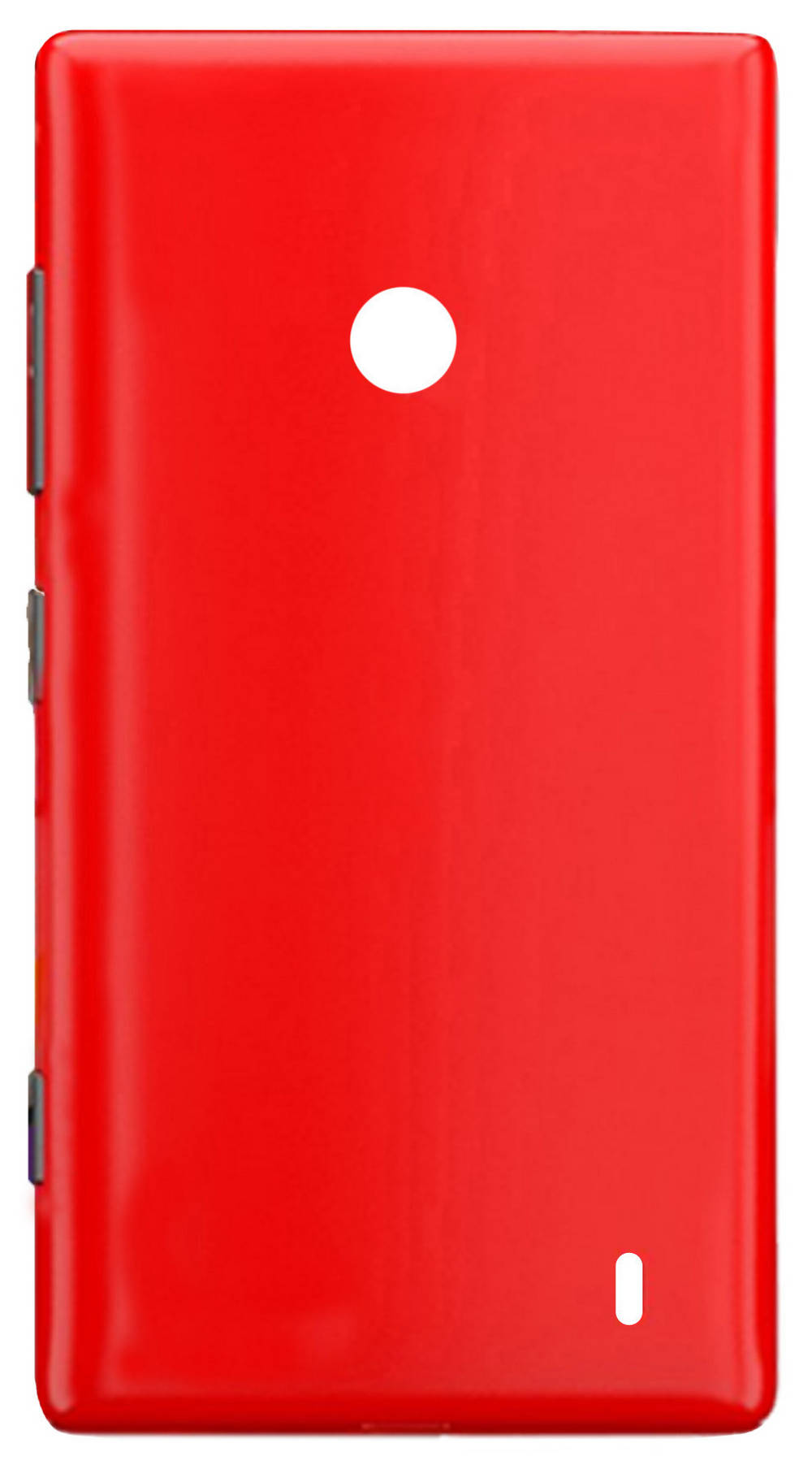 Καπάκι Μπαταρίας Nokia Lumia 520/525  Κόκκινο Swap με Εξωτερικά Πλαϊνά Πλήκτρα