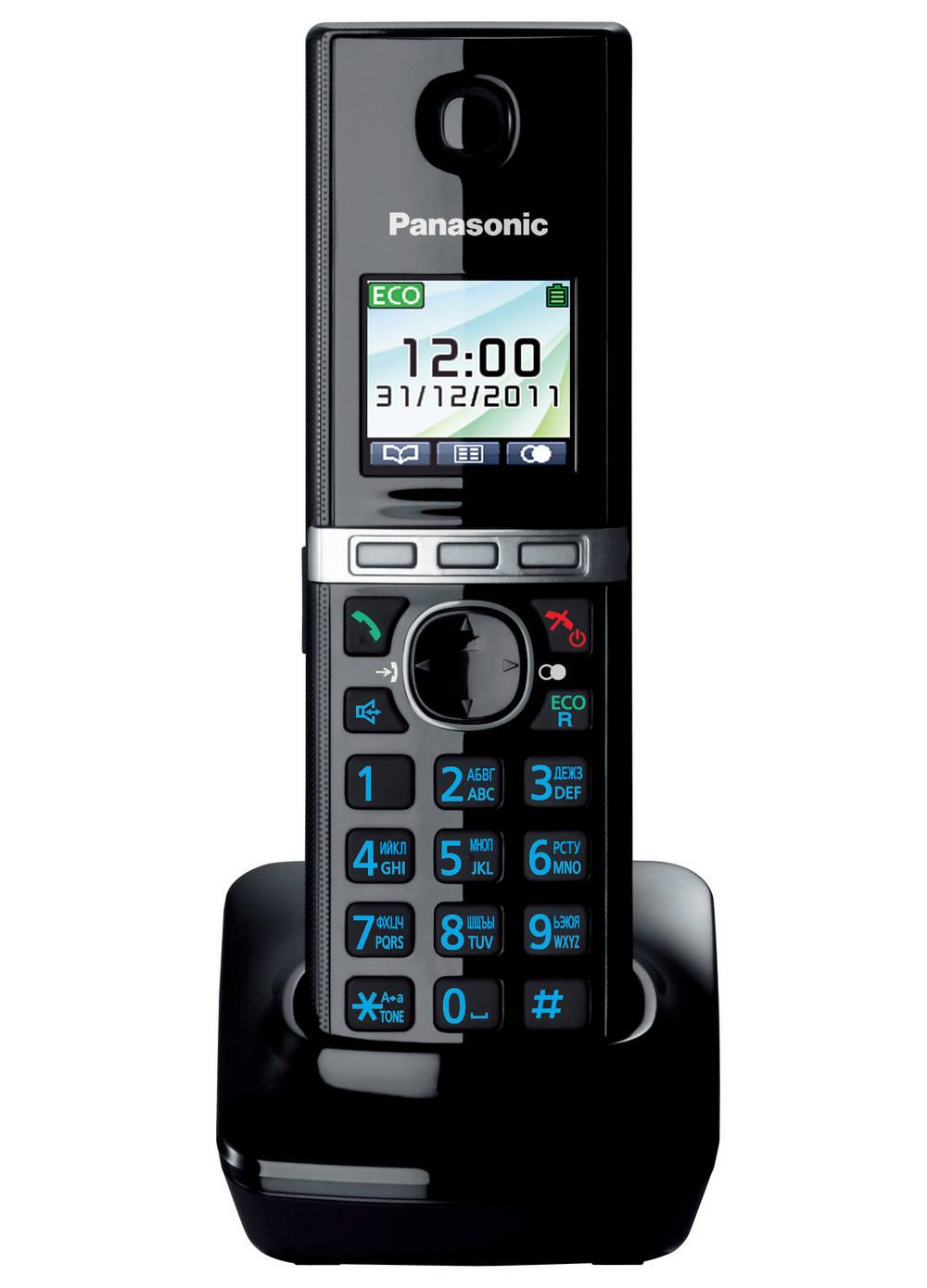 Ασύρματο Ψηφιακό Τηλέφωνο Panasonic KX-TG8051 (EU) Μαύρο με Υποδοχή Hands Free