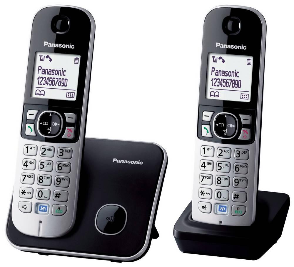 Ασύρματο Ψηφιακό Τηλέφωνο Panasonic KX-TG6812 (EU) Duo Ασημί - Μαύρο με Λειτουργία Eco