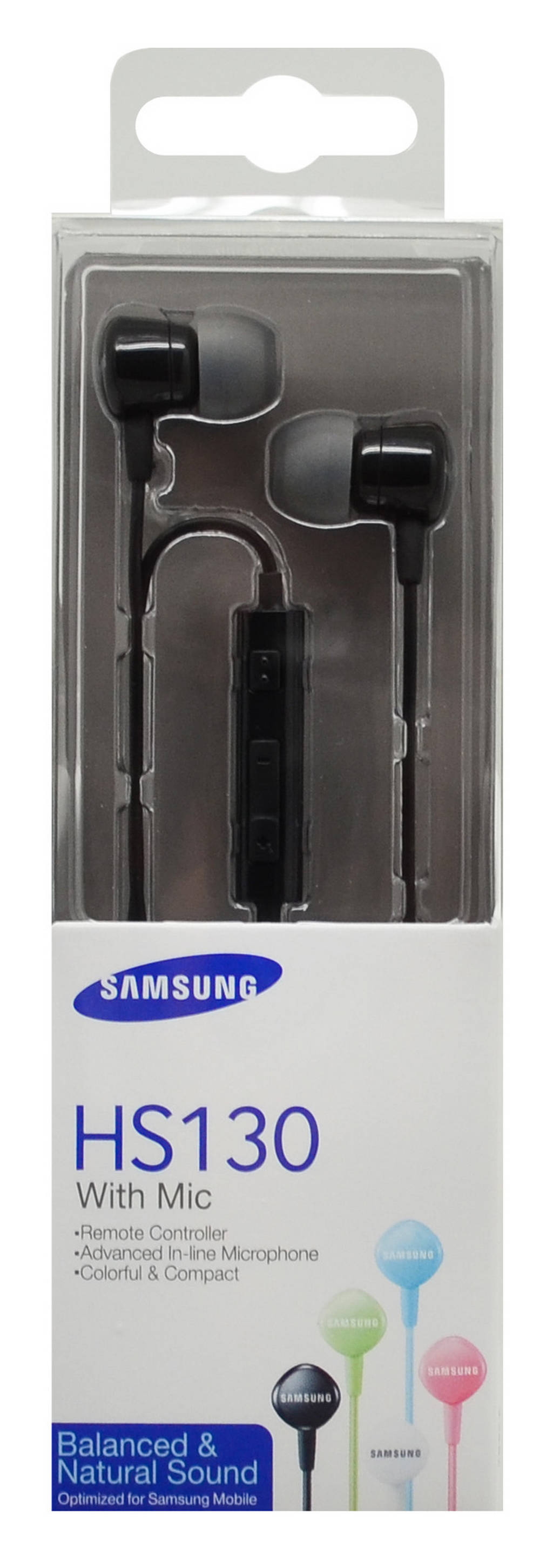 Hands Free Stereo Samsung EO-HS1303BEGWW για i9505/i9500 Galaxy S4/N9005 Note 3 ( Note III ) 3.5 mm Μαύρο