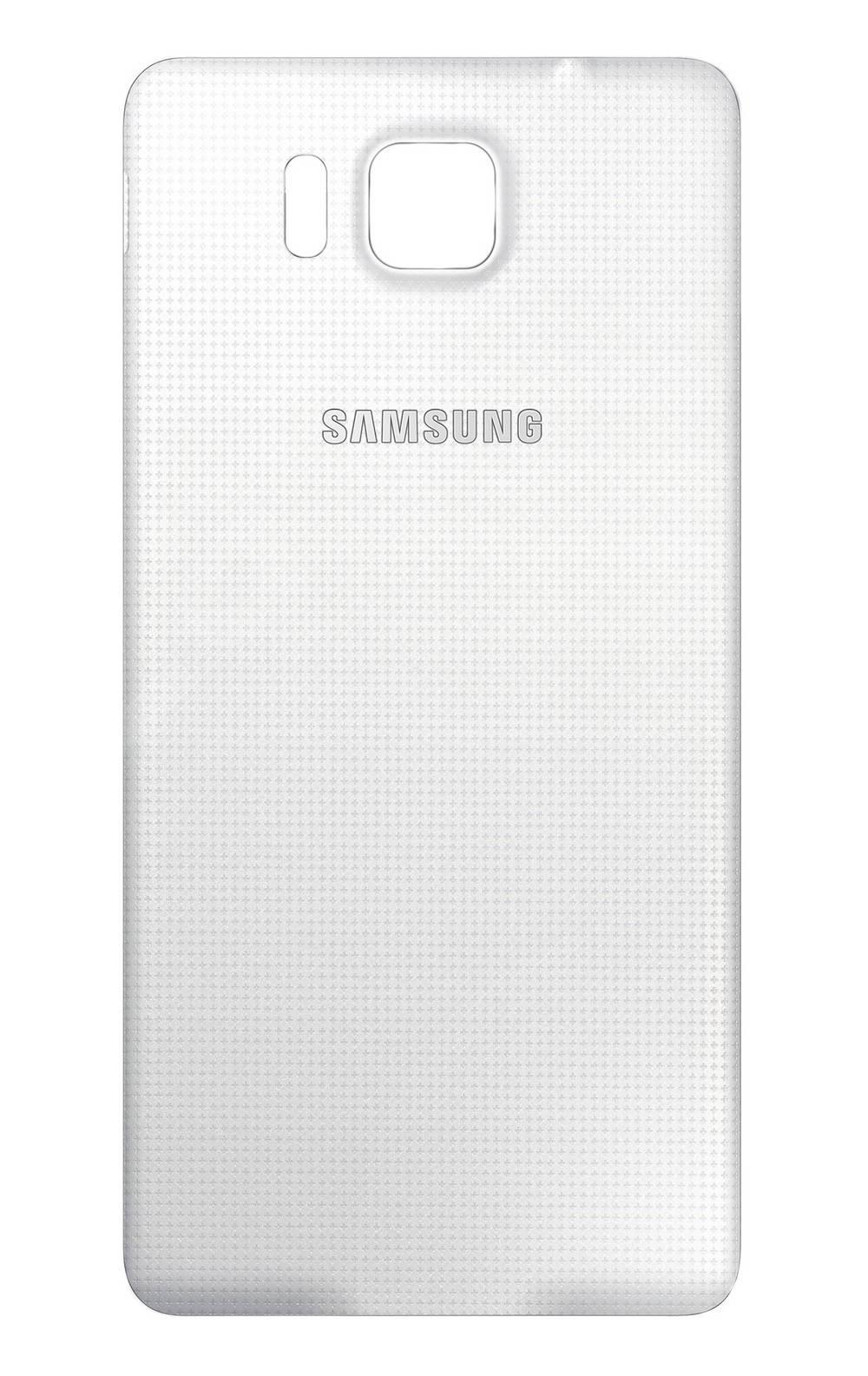 Καπάκι Μπαταρίας Samsung SM-G850F Galaxy Alpha Λευκό 4G Logo Original GH98-34643D