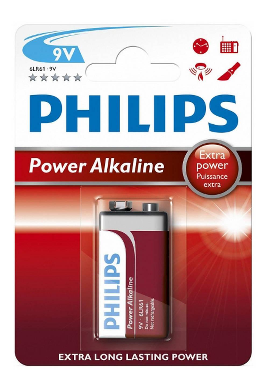 Μπαταρία Power Alkaline Philips 6LR61 size 9V Τεμ. 1