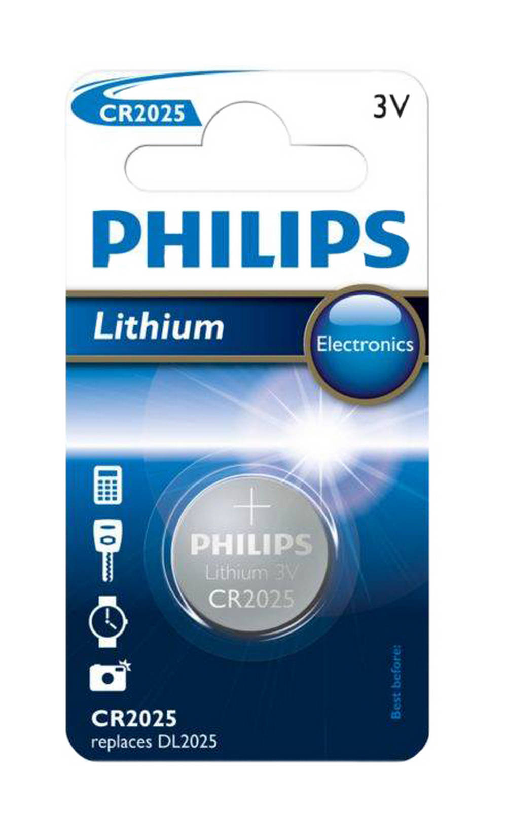 Buttoncell Lithium Electronics Philips CR2025 Τεμ. 1