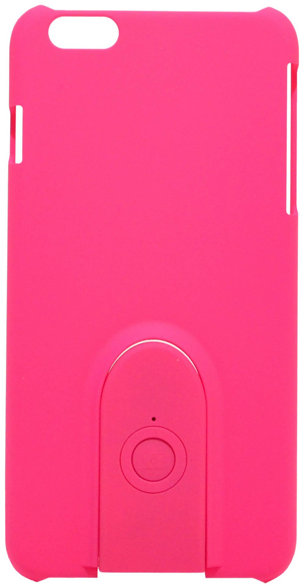 Θήκη Faceplate Monopod Wireless Selfie για Apple iPhone 6 Plus/6S Plus Velvet Feel Ρόζ με Αποσπώμενο Χειριστήριο Bluetooth
