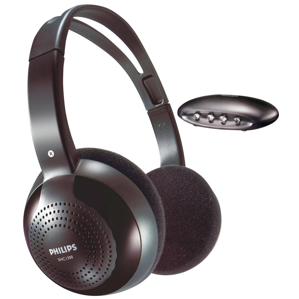 Ασύρματα Ακουστικά Stereo Philips SHC1300 Μαύρο για Τηλεοράσεις και Ηχοσυστήματα