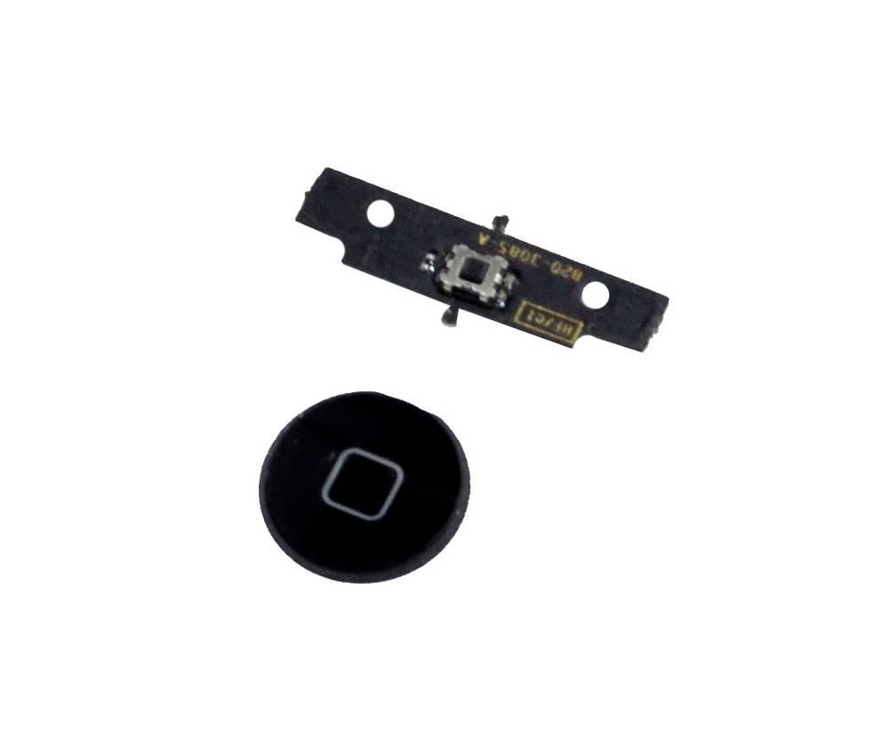 Σέτ Κεντρικού Πλήκτρου Apple iPad 2,3 Μαύρο Original