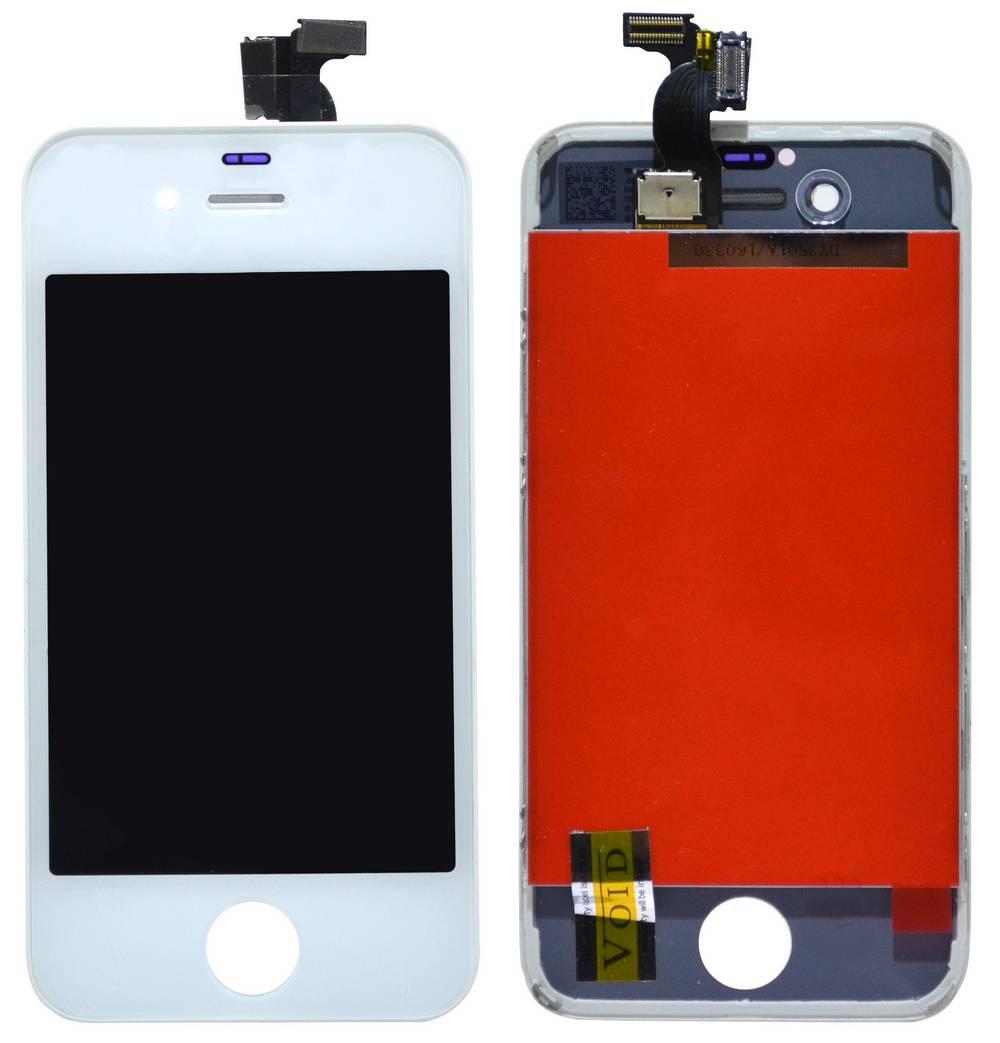 Οθόνη & Μηχανισμός Αφής για Apple iPhone 4S Λευκό Type A