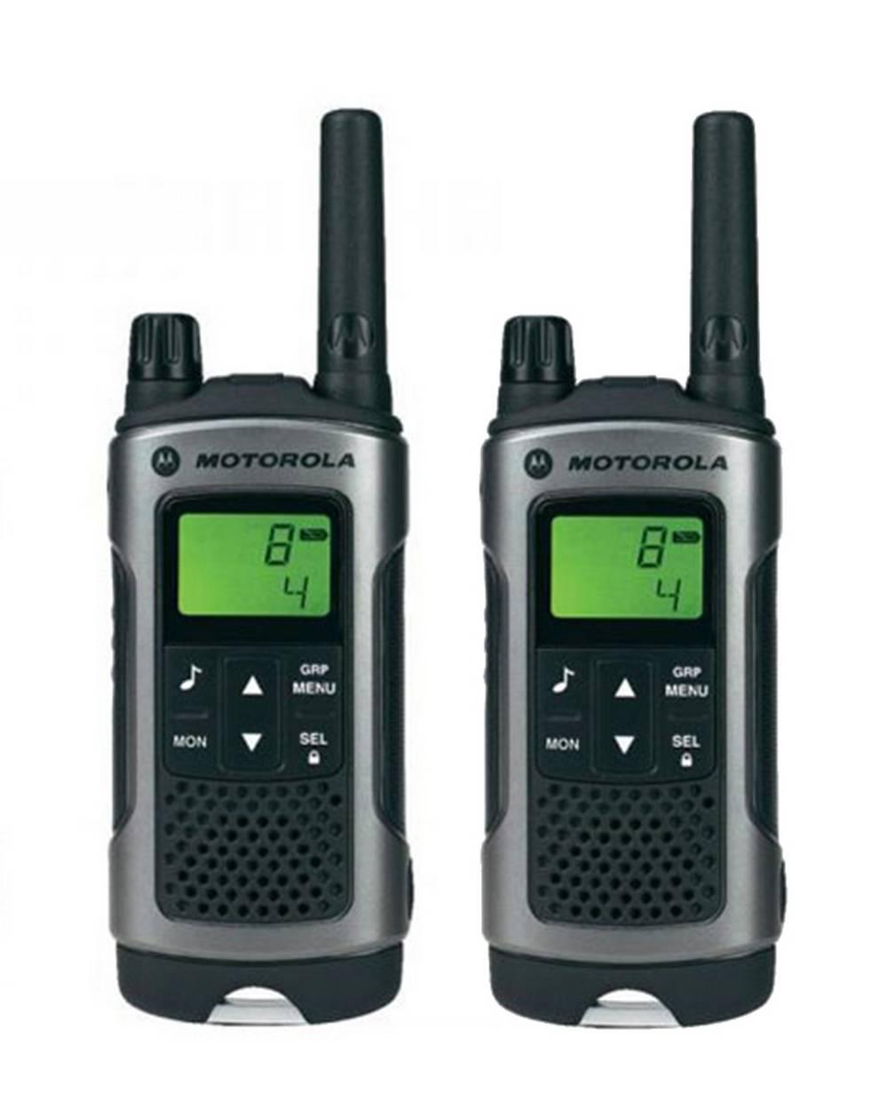 Walkie Talkie Motorola PMR T80 Μαύρο με Φακό Led και Υποδοχή Hands Free   Εύρος Κάλυψης 10 km