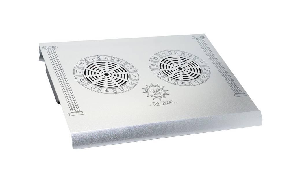 "Laptop Cooler Mobilis Zodiac Ασημί για Φορητούς Υπολογιστές έως 15"""