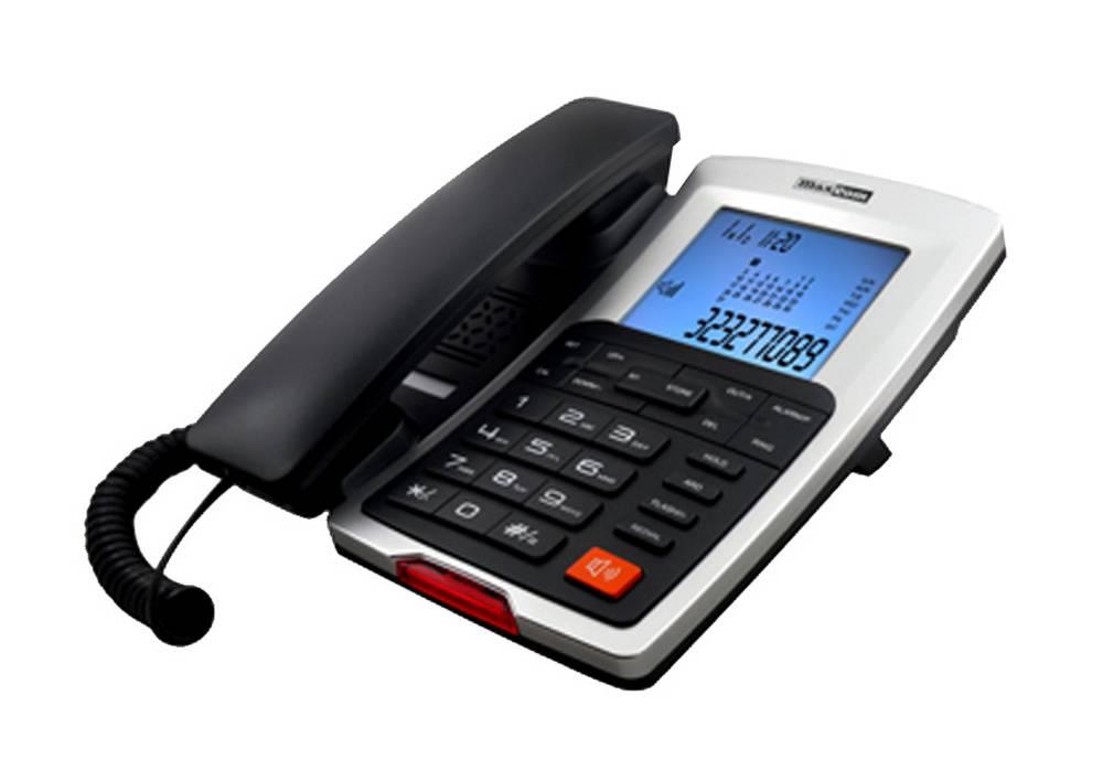 Σταθερό Ψηφιακό Τηλέφωνο Maxcom KXT709 Γκρί - Ασημί με Οθόνη και Ένδειξη Εισερχόμενης Κλήσης Led